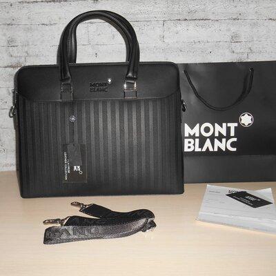 Сумка мужская, портфель Mont Blanc, кожа, Италия 0216
