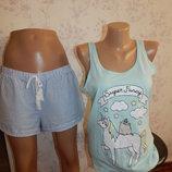 пижама скомбинированная трикотажная майка с шортиками р12