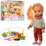 Кукла 34см MayMay музыкальная, с продуктами и кухонными принадлежностями, М-5922-B