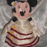 роскошнейшая мягкая кукла Минни Маус невеста Minnie Mouse Bride Disneyland Франция оригинал 22 см