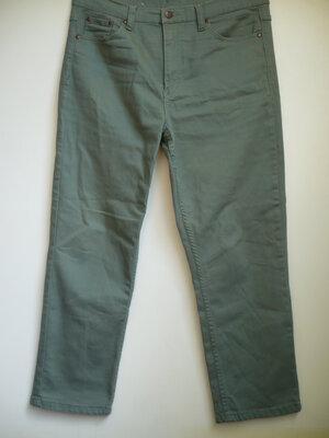 Мужские штаны р.34 котоновые зеленые
