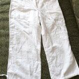Льняные бриджи штаны шорты