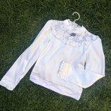 Школьная белая блузка 122-152