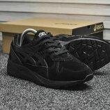 Как оригинал. Мужские Кроссовки Asics Gel Kayano Trainer Triple Black черные 8836 | KS 1267