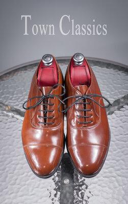 Винтажные оксфорды Town Classics, Чехословакия 43р мужские туфли кожа