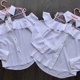 Новиночки Школьная блузочка, размеры 134- 158