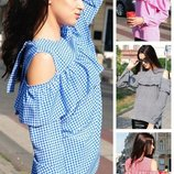 42-52, Блузка с длинным рукавом, Женская блузка. Летние блузки. Жіноча блузка, сорочка