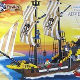 Конструктор 307 пиратский корабль шхуна brick брик корабль пиратов