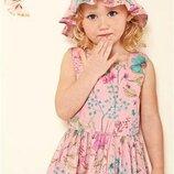 Тонкое хлопковое платье Next на 2-3 года