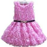 Детское платье нежно-розовое