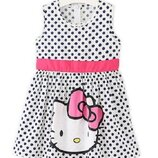 Платье Hello Kitty, в горошек