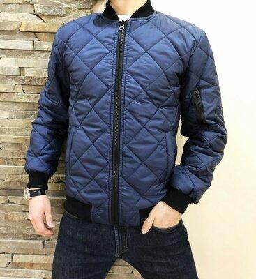 Мужская куртка стеганка Rhombus синяя