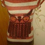 червона сукня полоска Kuch M ззаду гудзичок