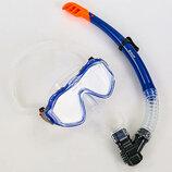 Набор для плавания маска с трубкой Zelart M309-SN132 термостекло, силикон, пластик