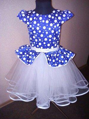 Яркое пышное выпускное детское нарядное платье
