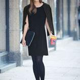 Чёрное платье из плотной ткани р. евро 36 38 S Германия