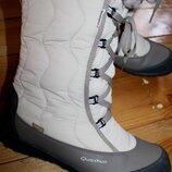 39 разм. Зима. Ботинки Quechua tika. Термо не промокают. Состояние новых Длина по внутренней стельк