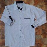 Школьная белая рубашка-трансформер на мальчика 10,11,12,13 лет Турция