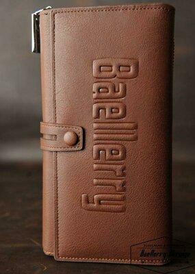 Мужской кошелек клатч портмоне Baellerry Guero S1393 коричневый