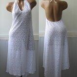 Гипюровое платье комбинация, или как пляжное