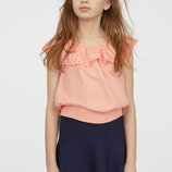 Блуза, топ персиковая девочке 11/12, 14 лет от h&m