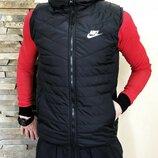 Жилетка Nike black, мужская жилетка черная
