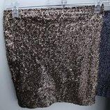 Юбка юбочка короткая блестящая шикарная в паетки размер хс.с.м.л.хл Reserved распродажи