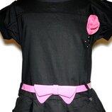 Детское платье с розовым поясом