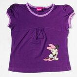 Disney. Фиолетовая футболка с Мини Маус 104 размер.