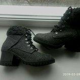 Войлочные ботинки, полусапоги, ботильоны Sliffs по стельке 25 см. Новые.