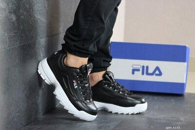 Кроссовки Fila Disruptor 8151 , мужские, черно белые