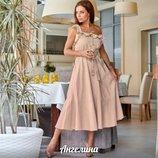 Легкое летнее платье,6 цветов