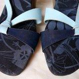 Босоножки р.37 Animal сине-голубые толстый каблук