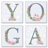 Набор для росписи по номерам. YOGA прованс 18 18 см 4 шт. CH116