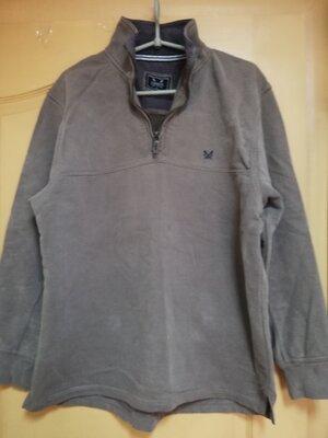 Оригинальная тёплая хлопковая кофта crew clothing co размер 38/M/46
