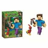 Конструктор Bela Minecraft Майнкрафт 11166 Стив с попугаем аналог LEGO Minecraft 21148 , 159 дет