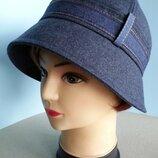 Шляпа женская. Клош. Демисезонная.джинсовый стиль. Цена 250 гр.
