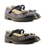 Туфли для девочки Сказка 309077,309076 черные, синие,31-37 р., 19