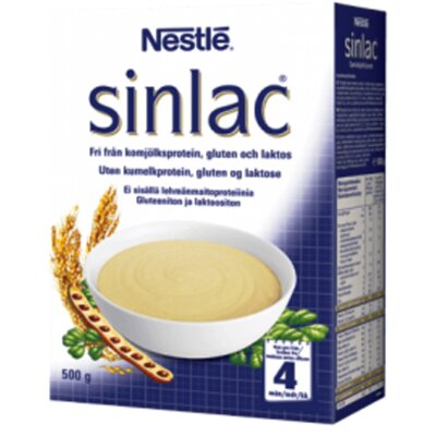 Каша Nestle Sinlac для детей с 4-х месяцев без лактозы, без глютена и без молока
