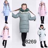 Хитовая зимняя удлиненная куртка на девочку 8269 X-Woyz Новые расцветки Размеры 32- 42