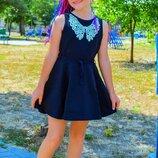 Красивый школьный сарафан для девочки, сарафан, платье для школы