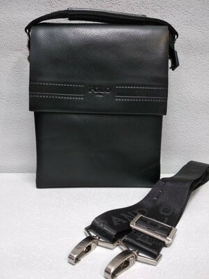 Код М-087 Мужская сумка . Цвет чёрный Материал эко-кожа люкс качества натур. кожа клапан 24х19