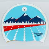 Шапочка для плавания Speedo Light Adriatic 85B956 силикон, цвет голубой