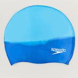 Шапочка для плавания Speedo Multi Color 69B958 силикон, цвет синий