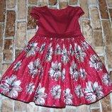 нарядное пышное платье 2-3 года хлопок одежда 1-16 лет