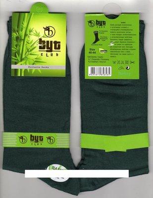 Носки мужские демисезонные бамбук Byt Club, без шва, ароматизированные, 41-44 размер, зелёные,12 пар