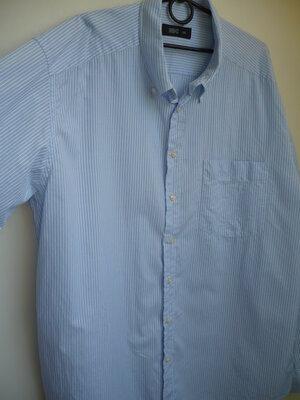 Мужская рубашка в полоску, классика, xxl