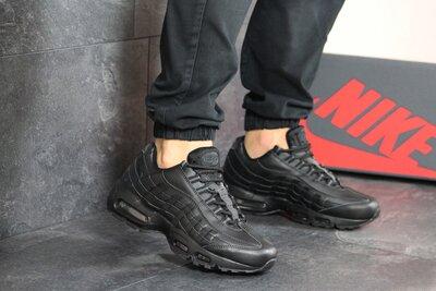 Кроссовки мужские Nike 95 черные кожа