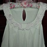 Летняя блуза с декором. вискоза