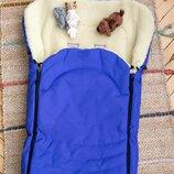 Меховой конверт САНИ в коляску или санки на овечьей шерсти